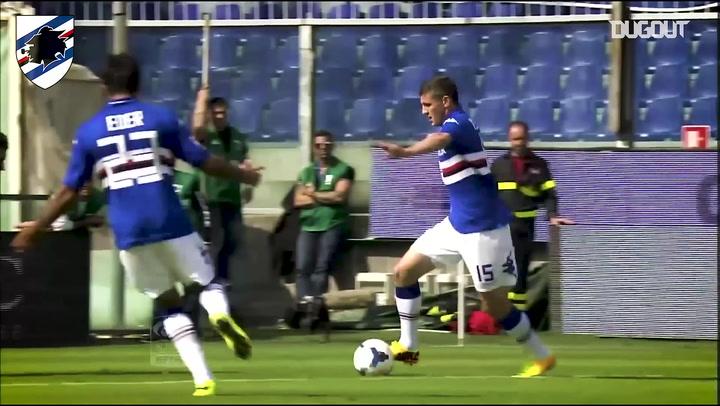 Pawel Wszolek scores spectacular first Sampdoria goal