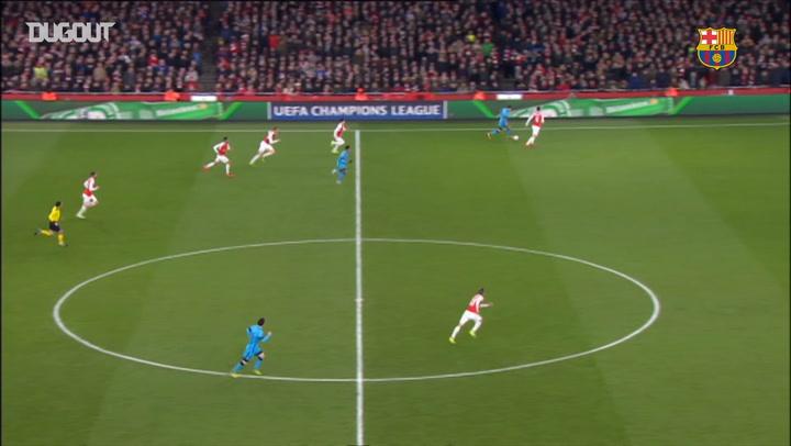 Lionel Messi and Neymar Combine vs Arsenal