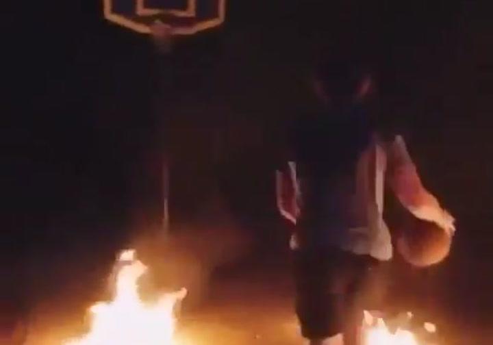 Fuego y basket... qué más se puede pedir