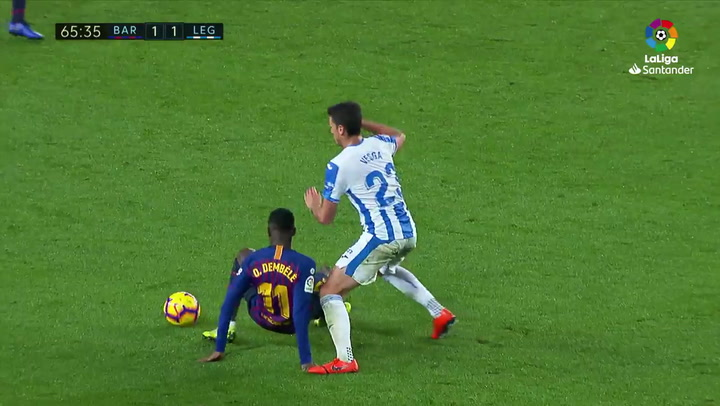 LaLiga: Barça - Leganés. Lesión de Ousmane Dembélé