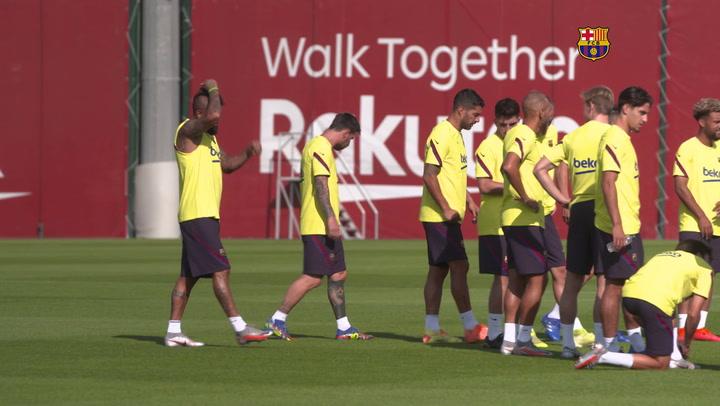 El Barça retoma los entrenamientos tras la jornada de descanso