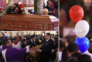Así fue la misa de cuerpo presente de Rafael Ferrari en la Basílica de Suyapa