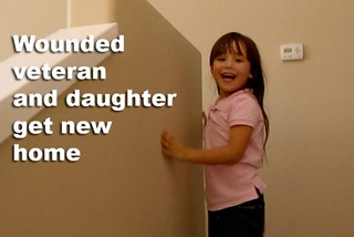 Wounded veteran and daughter get new home