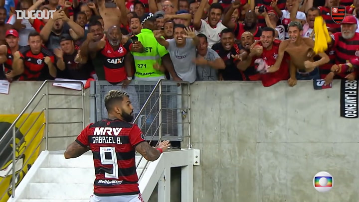 Gabriel Barbosa's Libertadores goals for Flamengo