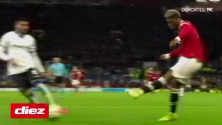Marcus Rashford marca el descuento para el United ante el Atalanta en la Champions