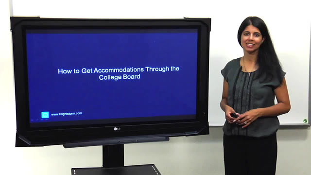 Get Accommodations Through the College Board