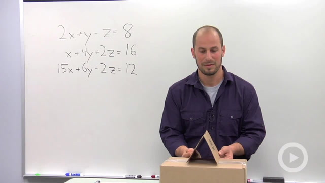 Solving a Linear System in Three Variables with a Solution