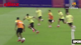 De un fino taco de Riqui Puig al golazo de Griezmann en el segundo ensayo del Barcelona