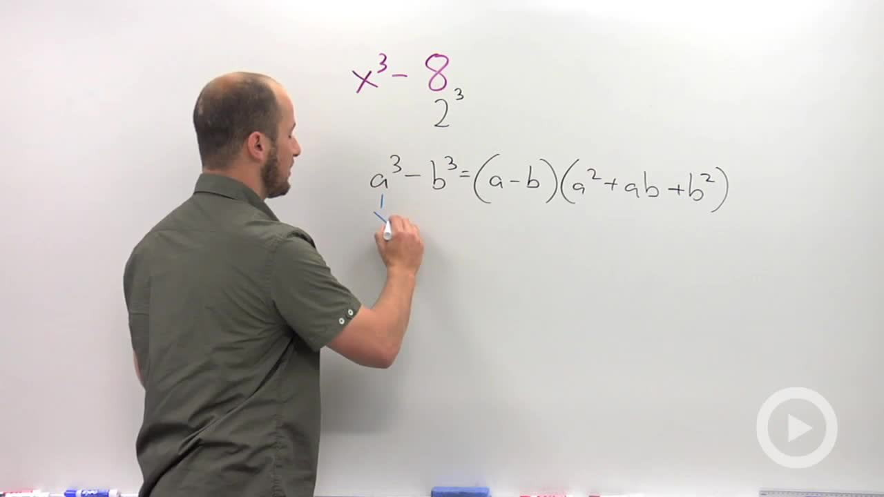 Factoring The Sum Or Difference Of Cubes  Problem 1  Algebra 2 Video By  Brightstorm