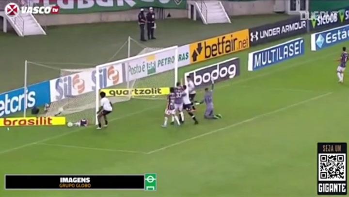Talles Magno's goal for Vasco against Fluminense