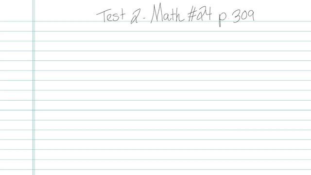 Test 2 - Math - Question 24