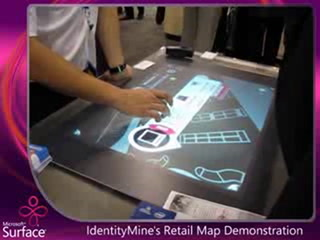 IdentityMine's Retail Map on Microsoft Surface