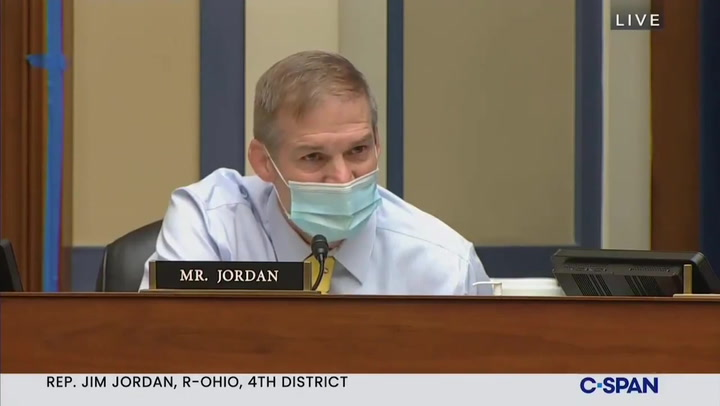 Dr Fauci has heated exchange with Jim Jordan over Covid restrictions