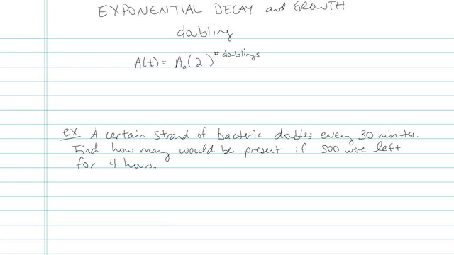 Exponential Growth and Decay - Problem 6