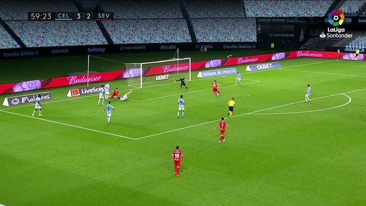 Gol de Rakitic (3-3) en el Celta 3-4 Sevilla