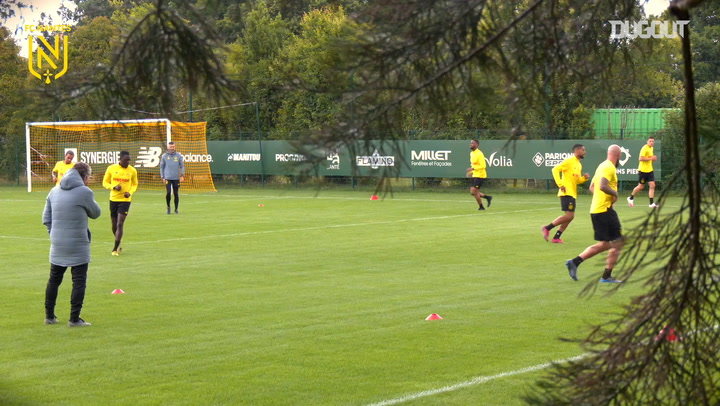 FC Nantes players are back on the training pitch