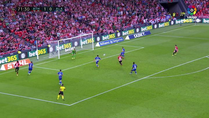 Gol de Muniain (2-0) en el Athletic-Alavés