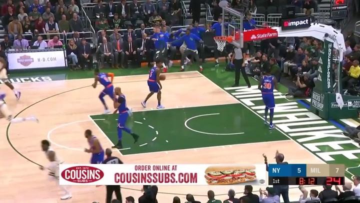 Giannis Antetokounmpo (Bucks), el más destacado de la jornada de la NBA