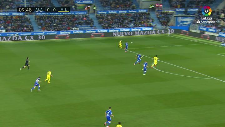 Gol de Bacca (0-1) en el Alavés 1-2 Villarreal