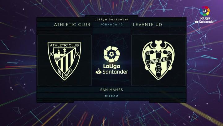 LaLiga (J13): Resumen y goles del Athletic 2-1 Levante