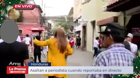 Asaltan a periodista cuando transmitía en vivo