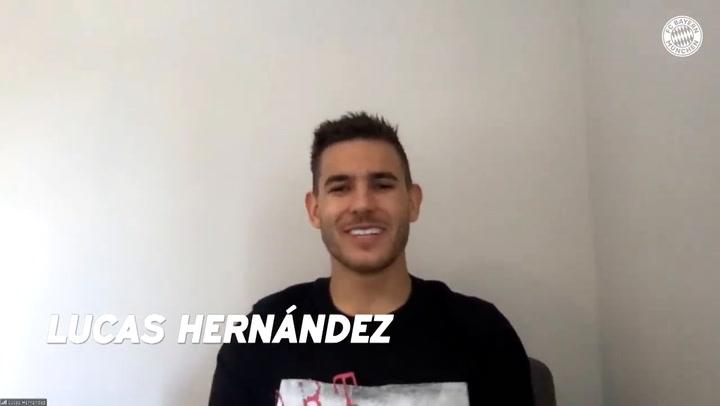 """Lucas Hernández en un perfecto alemán: """"El Bayern es más grande que el Atleti"""""""