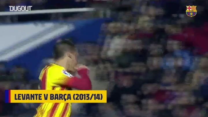 First hat trick of assists for Messi in 2014 against Levante
