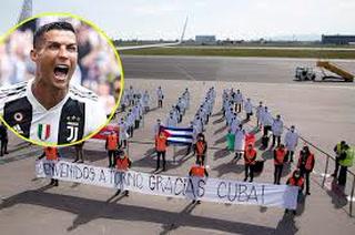 Cristiano Ronaldo sorprende a médicos cubanos con un regalo sumamente especial