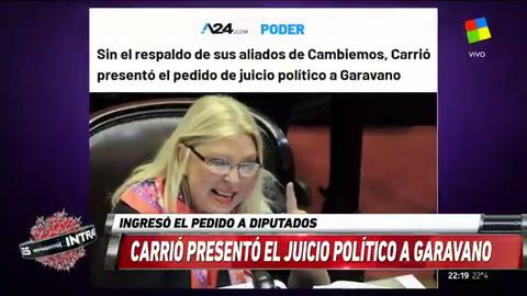 Carrió presentó el pedido de juicio político a Garavano
