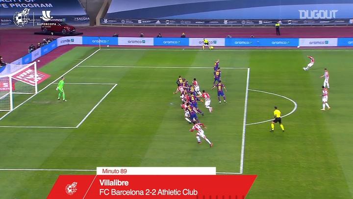 Asier Villalibre's late equaliser vs Barcelona
