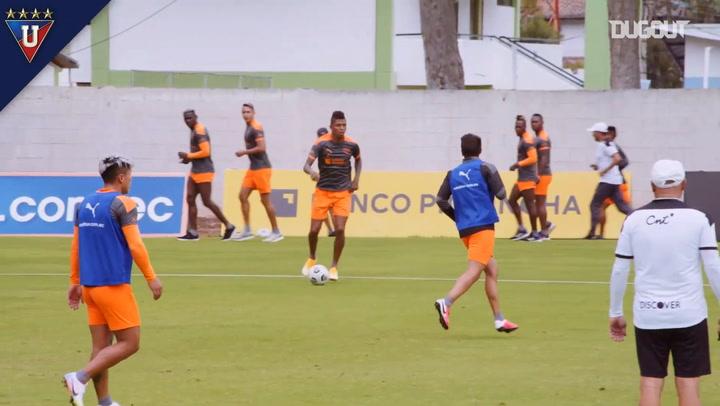 Liga de Quito's small-sized game in training