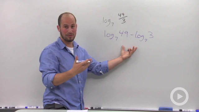 Quotient Rule of Logarithms - Problem 1