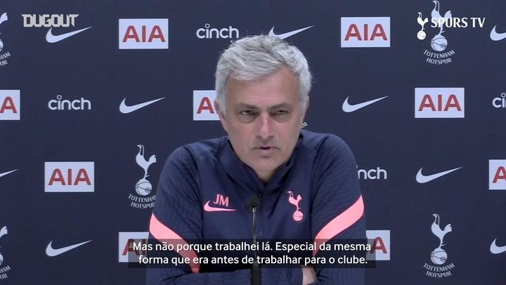 """""""É sempre especial jogar contra o United"""", diz José Mourinho"""