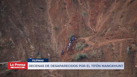 Descenas de desaparecidos por el tifón Mangkhunt