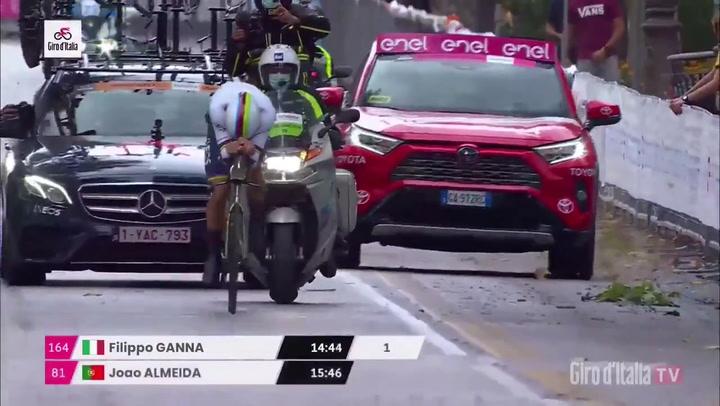 Ganna, primera maglia rosa del Giro tras la crono inicial en el abandono de 'Superman'