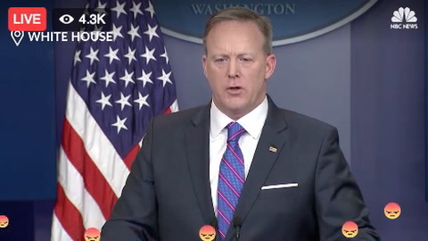 Sean Spicer press conference Facebook reactions