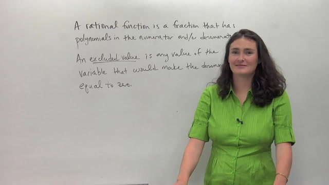 Introduction to Rational Functions