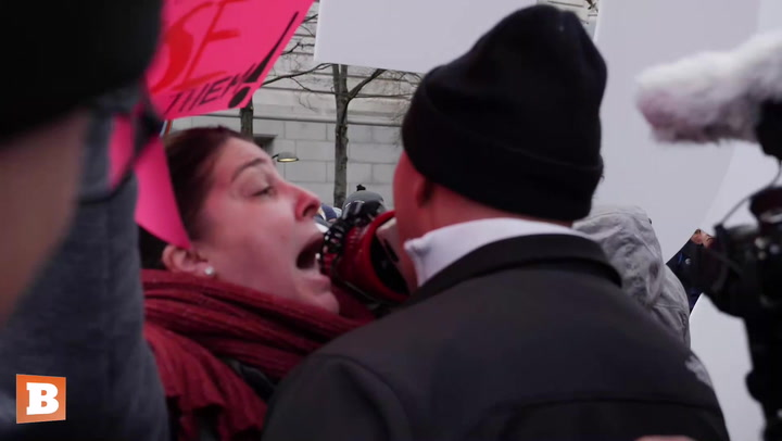 Women's March Heckles Pro-Life Man