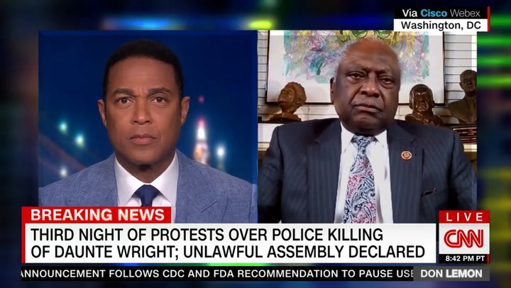 Clyburn: Tlaib 'Expressing Her Frustrations' and Constituents by Calling for 'No More Policing,' 'and I Can Understand That'