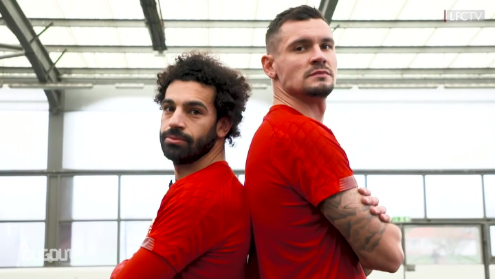 Mohamed Salah and Dejan Lovren table tennis showdown