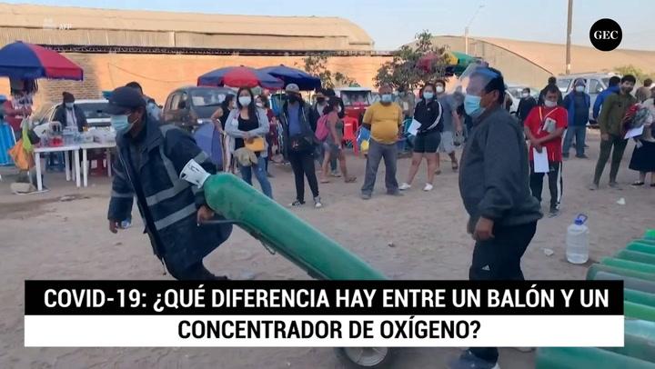 COVID-19: ¿Qué diferencia hay entre un balón y un concentrador de oxígeno?