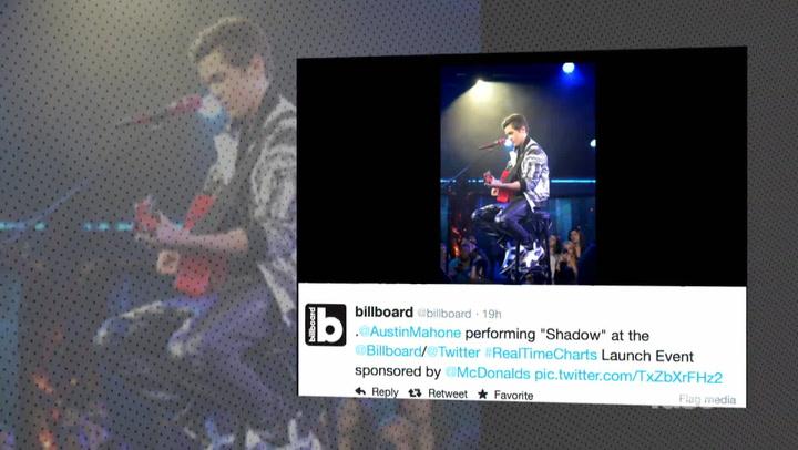 Austin Mahone Celebrates #1 on Billboard Twitter Charts