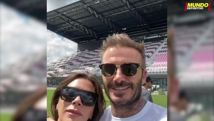 David Beckham enseña a Victoria el espectacular estadio del Inter de Miami