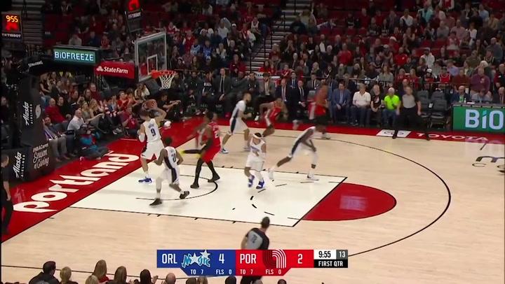 Damian Lillard (Trail Blazers), el más destacado de la jornada de la NBA del 20 de diciembre 2019