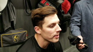 Golden Knights forward David Perron talks about his first full practice