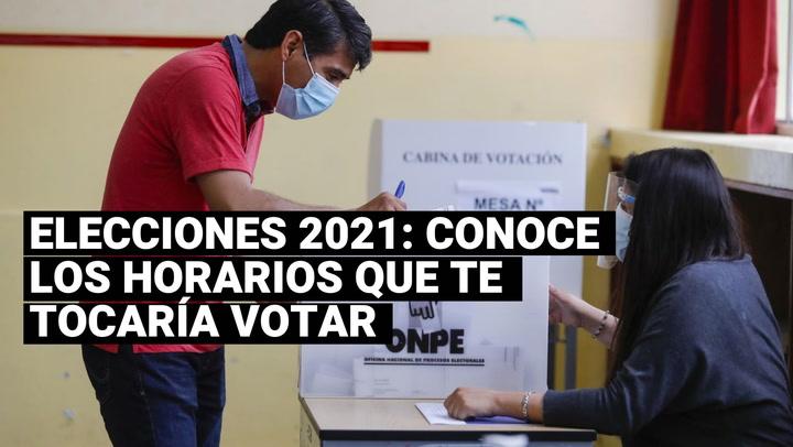 ¿Cuáles son los horarios para ir a votar en las Elecciones 2021 según el último dígito de tu DNI?