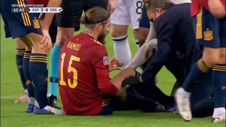 Lesión de Ramos ante Alemania