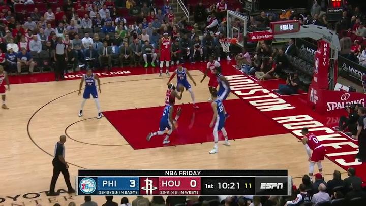 James Harden (Rockets), el más destacado de la jornada de la NBA del 3 de enero 2020