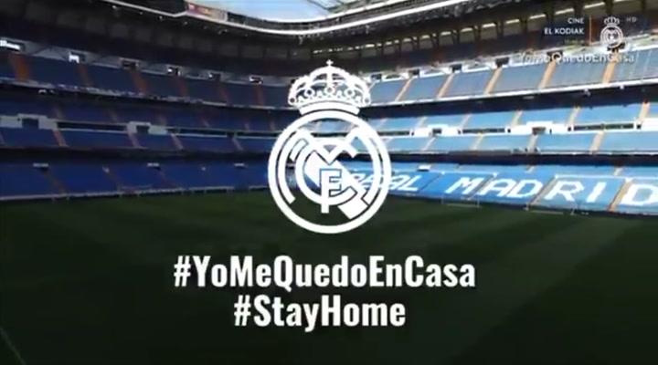 El estadio Santiago Bernabéu envía un mensaje a los aficionados madridistas