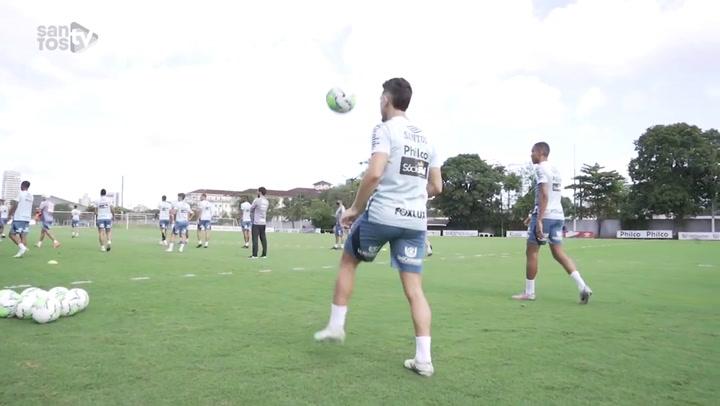 Santos inicia preparação para duelo contra o Fluminense no Brasileirão